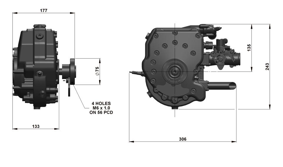 125CS Dimensions