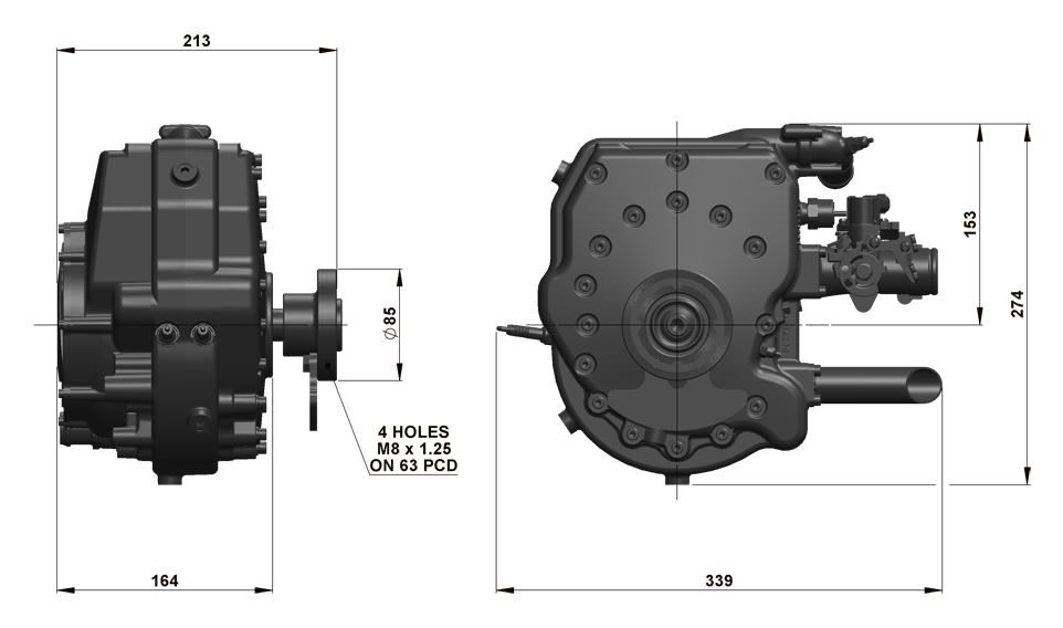 225CS Dimensions