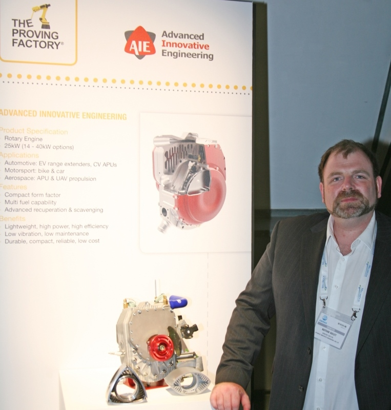 AIE show off their world-class rotary engines at Cenex-LCV 2014