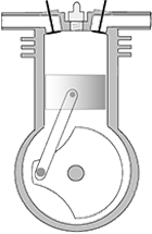 Four-Stroke Piston Engine Diagram