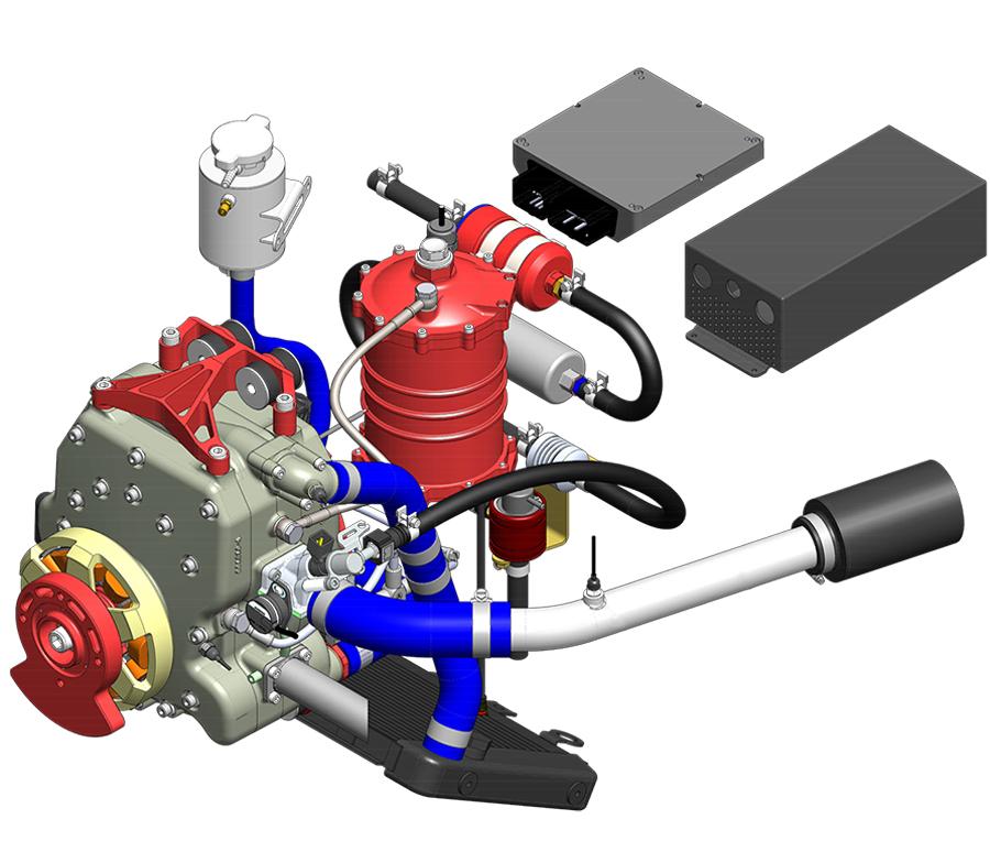 Interative detailing of 40 BHP UAV Propulsion System